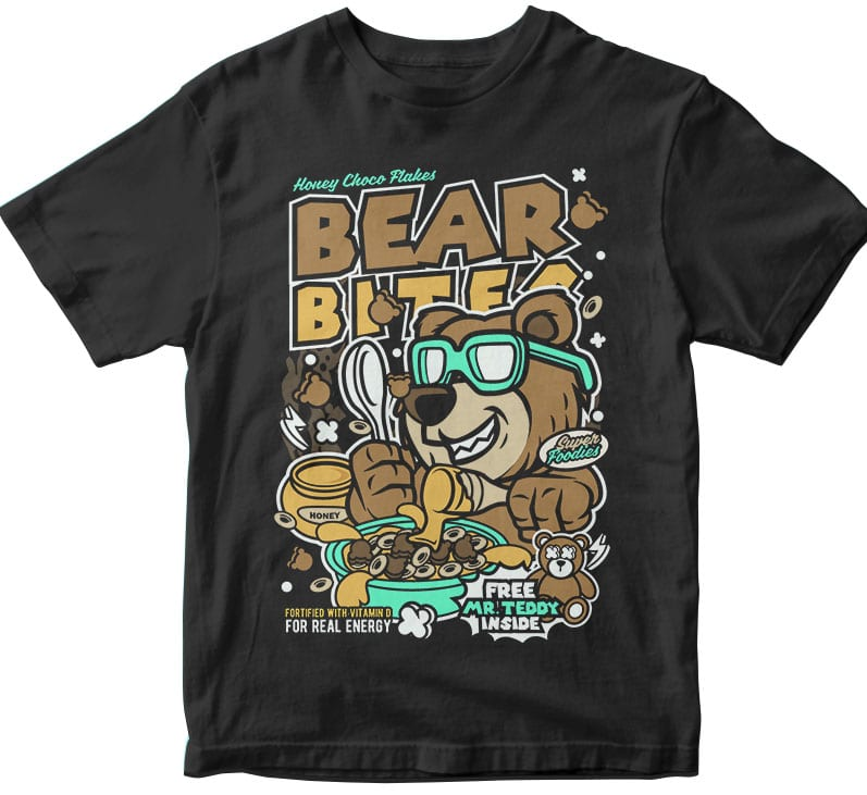 Bear Bites t shirt design png