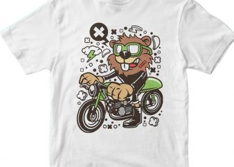 Beaver Downhill t shirt template