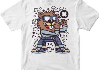 Beaver Fighter t shirt template
