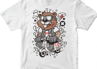 Beaver Scooterist t shirt design to buy