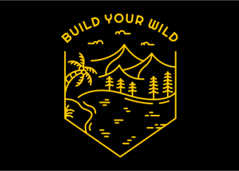 Build Your Wild t shirt template