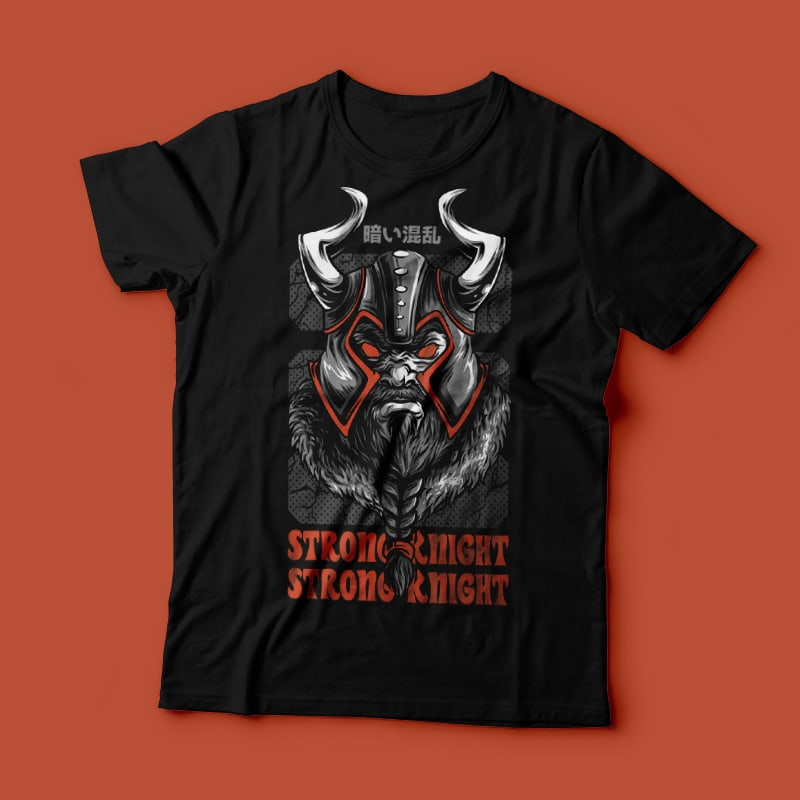 Strong Knight T-Shirt Design Template buy t shirt design