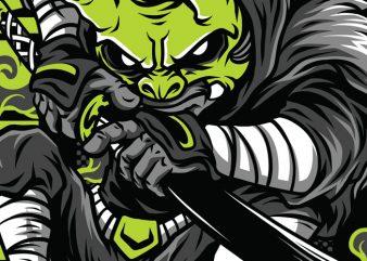 Masked Hunter T-Shirt Design Template