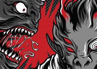 Monster Academy T-Shirt Design Template
