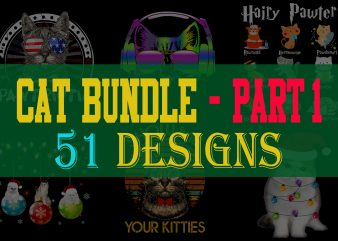 Cat Bundle Part 1 t shirt vector file