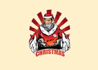 Santa x Christmas T-Shirt Design