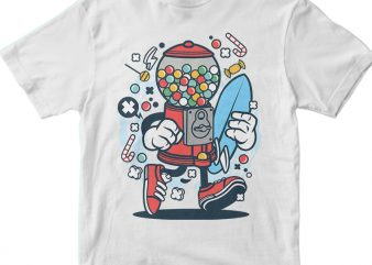 Candy Machine Surfer t shirt vector file