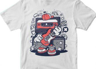 Cassette Rock Star t shirt vector file