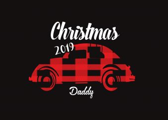 Christmas Daddy 2019 t shirt vector file