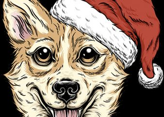 Christmas Corgi t shirt vector file