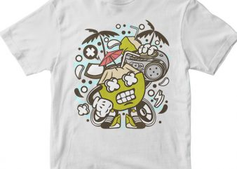 Coconut Boombox t shirt vector file