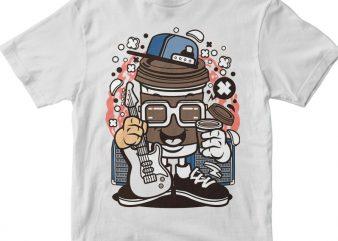 Coffee Cup Rocker t shirt vector file