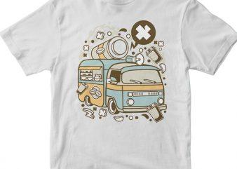 Coffee Van t shirt vector file