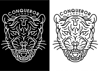 Conqueror t shirt vector file