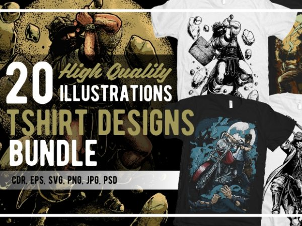 20 Illustrations Tshirt Designs