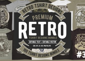 100 Retro Tshirt Design #3