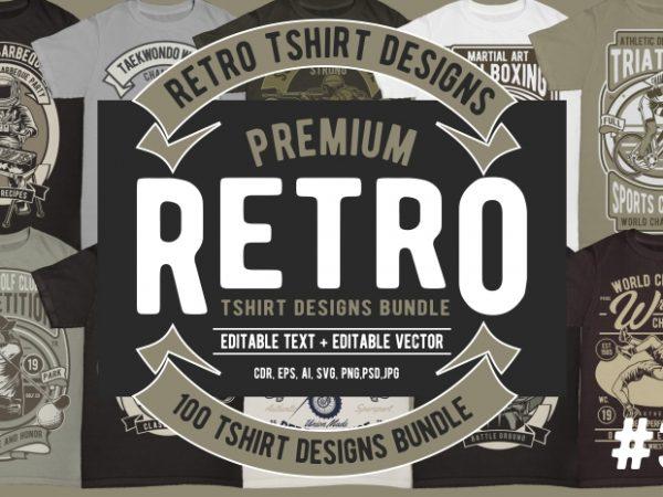 100 Retro Tshirt Design #3