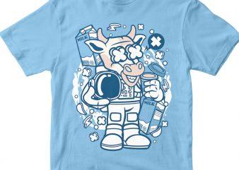 Cow Astronaut t shirt vector file
