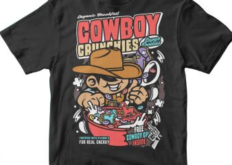 Cowboy Crunchies t shirt vector file