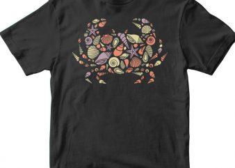 Crab t shirt vector file