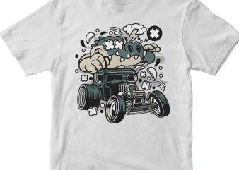 Crocodile Hotrod t shirt vector file