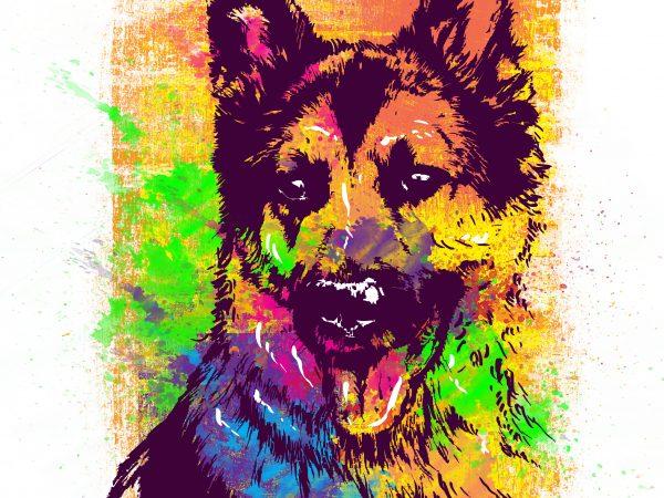 DOGGY t shirt vector illustration