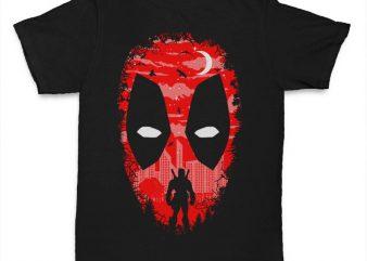 Deadpool t shirt design template