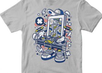Dj King Card vector t shirt design artwork