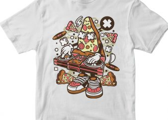 Dj Pizza t shirt design for purchase