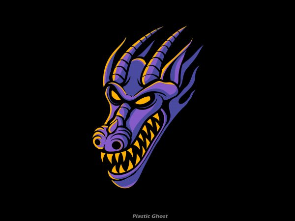 Purple Dragon tshirt design for sale