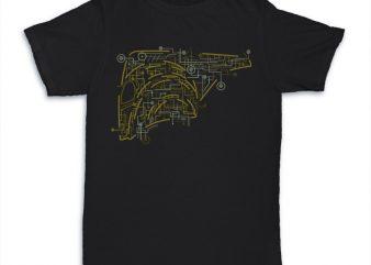 Electric Rocketeer buy t shirt design