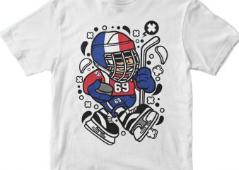France Hockey Kid t shirt graphic design