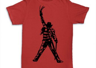 Freddy t-shirt design for commercial use