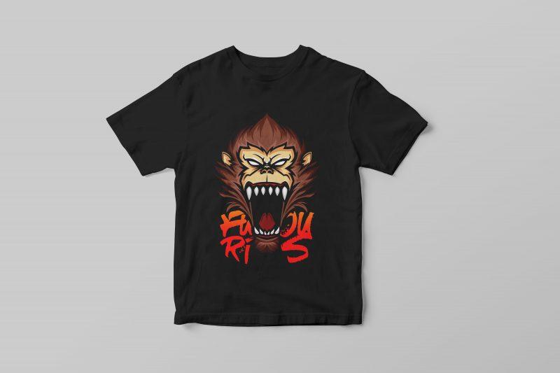 Furious Ape Vector T-shirt Design t shirt designs for teespring