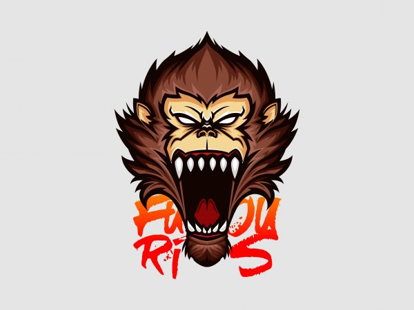 Furious Ape Vector T-shirt Design
