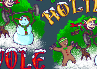 Holiday Swole buy t shirt design artwork