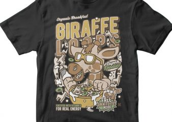 Girrafe Loops vector t-shirt design for commercial use