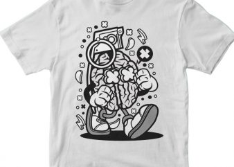 Grenade Brain tshirt design vector