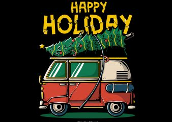 Happy Holiday graphic t-shirt design
