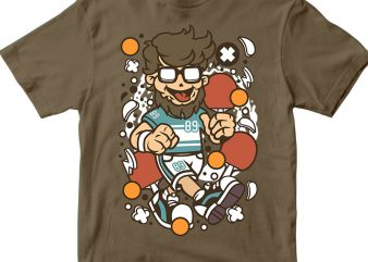 Hipster Ping Pong graphic t shirt