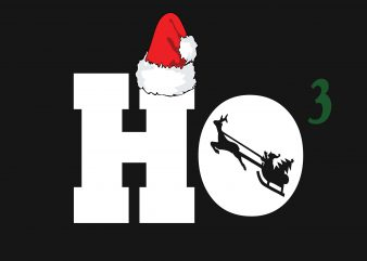 Ho Ho Ho Santa graphic t shirt