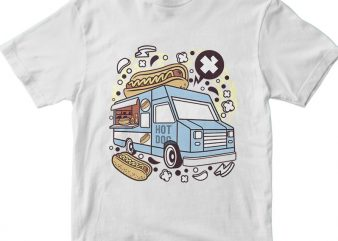 Hotdog Van buy t shirt design
