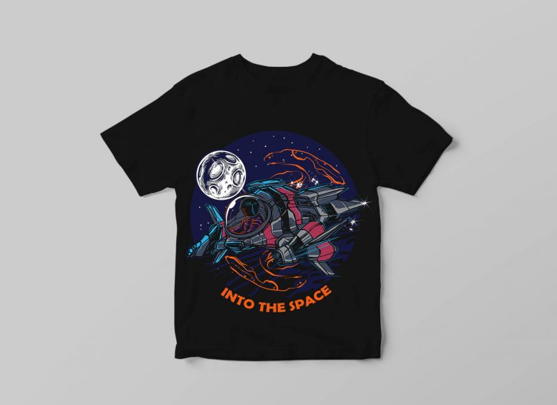 INTO THE SPACE tshirt design for sale