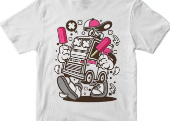 Ice Cream Truck t shirt design for sale
