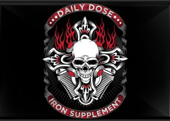 Iron Supplement vector t shirt design for download