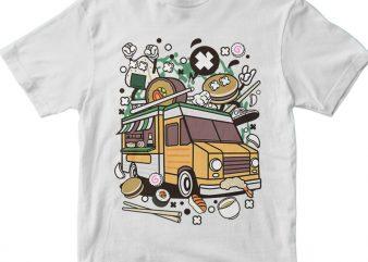 Japanese Food Van vector clipart