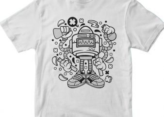 Lab Robot Monster t shirt vector graphic
