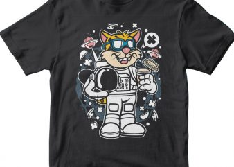 Leopard Astronaut vector t-shirt design for commercial use