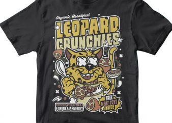 Leopard Crunchies t shirt vector graphic