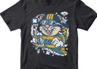 Leopard Pilot commercial use t-shirt design